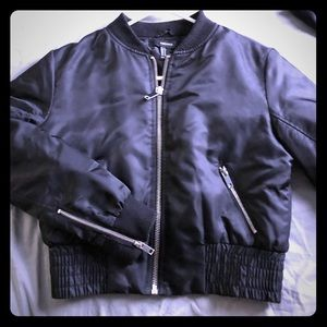 BNWOT Forever 21 bomber jacket black.
